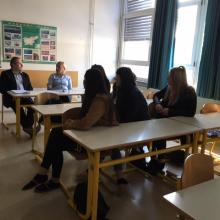 Srečanje z ocenjevalci projekta Šola ambasadorka Evropskega parlamenta